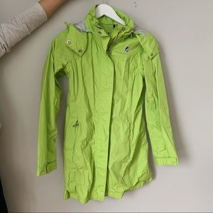 Green K-Way Rain Coat